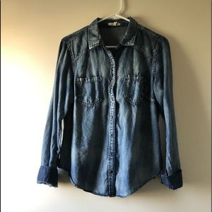 Denim Washed-Out Long Sleeve